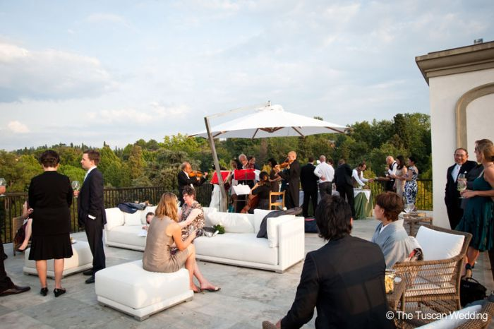 Aya & Richard Wedding in Italy // Aperitif on Terrace // The Tuscan Wedding