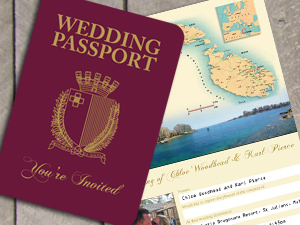 Passport Destination Stationery by wedding-invitation-designer
