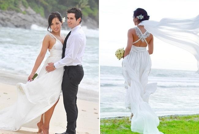 Deanne's Beach Wedding Dress by Ann Campbell // Aidan Dockery Photography