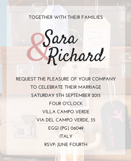 Wedding Invitation Text: Destination Wedding Invitation Wording
