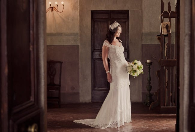 Fiona's Wedding Dress by Claire Pettibone // Studio Impressions Photography // Accent Events