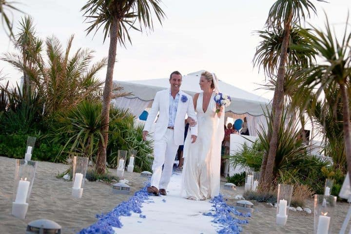 Katy Tony Beach Wedding In Tuscany Glam Events Cristiano