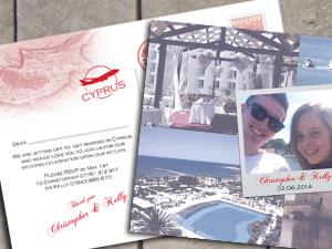 Postcard Design Destination Stationery by wedding-invitation-designer