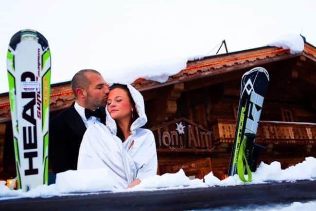 Lucie & Max'a Winter Wedding in Austria // David Pullman Photography