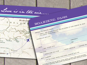 Boarding Pass Ticket Destination Stationery by wedding-invitation-designer