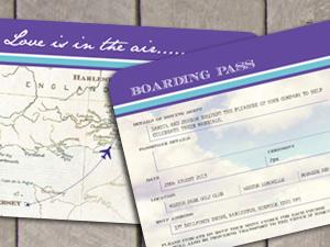 Boarding Pass Ticket Destination Stationery by wedding-invitation-designer