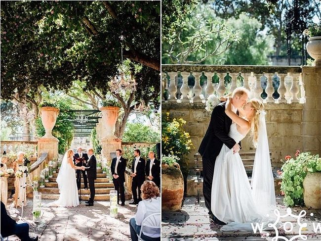 Villa Bologna - Our Top Tips for the Best Wedding Venue in Malta. We look at the five best wedding reception venues and tell you why they stand out from the rest. // WedOurWay - idoweddingsmalta.com // WeddingsAbroadGuide.com