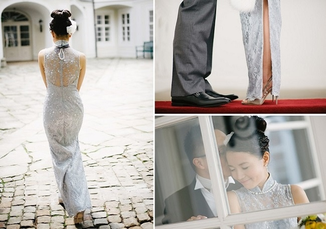 Tips for choosing Wedding Dresses for Weddings Abroad - Vicky's elegant Qiapo Chinese dress - White Prague Wedding Agency - Claire Morgan Photography - weddingsabroadguide.com
