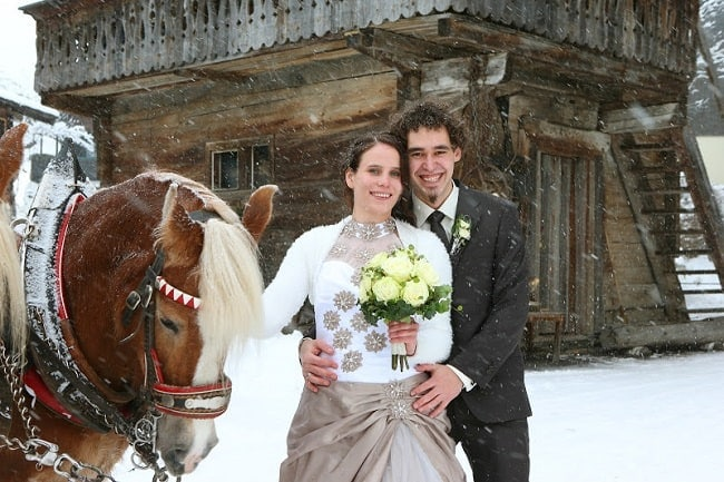 Tina & Herbert's Winter Wedding in Austria // Austrian Wedding