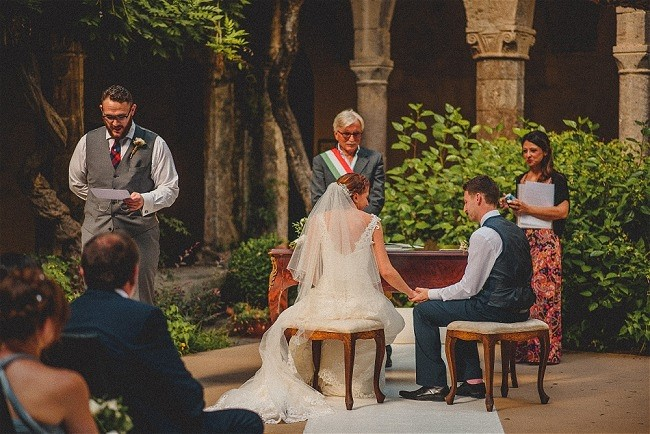 Find wedding planners in Italy in One Easy Step www.weddingsabroadguide.com // Matt & Emma's Wedding Sorrento Relais Blue Italy // Accent Events Wedding Planner // Livo Lacurre Photography