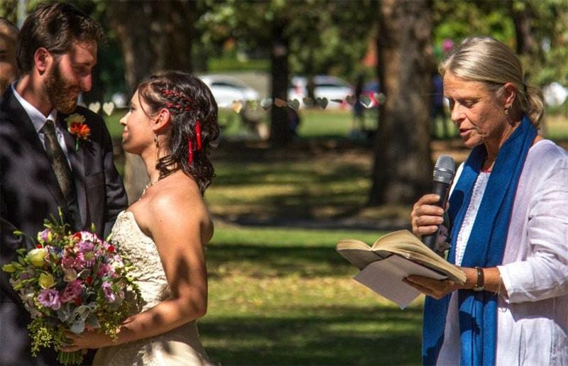 Australia Wedding Ceremony | Jess &Caylans Melbourne Garden Wedding | weddingsabroadguide.com