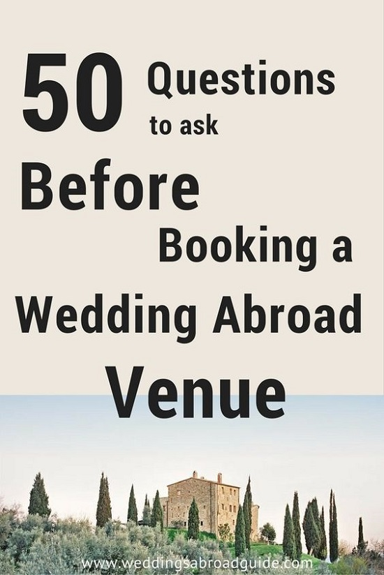 Guest information checklist for a destination wedding weddings destination wedding venue checlist download your free checklist with 50 questions to ask before booking junglespirit Image collections