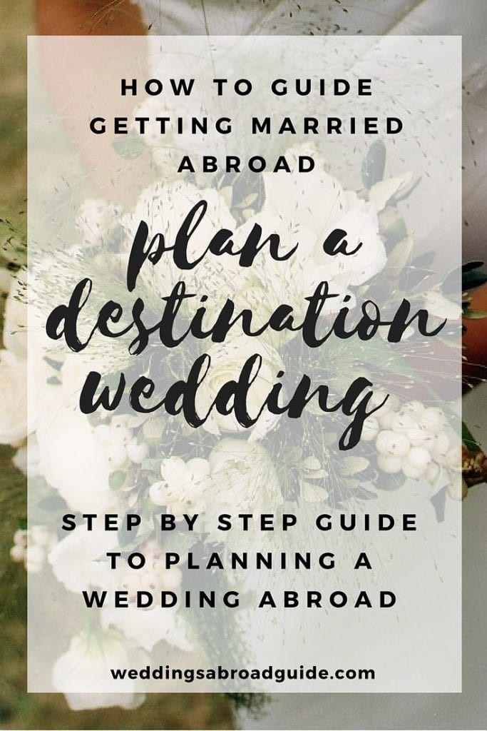 Your step by step guide to destination weddings.So this is where your journey begins…let's start planning your wedding abroad! Wedding abroad planning checklists, destination wedding etiquette, hints & tips on choosing your wedding venue plus so much more.