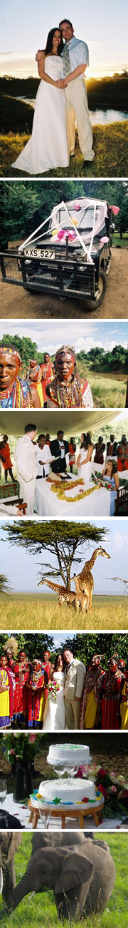 real wedding in Kenya Leanne and Wayne