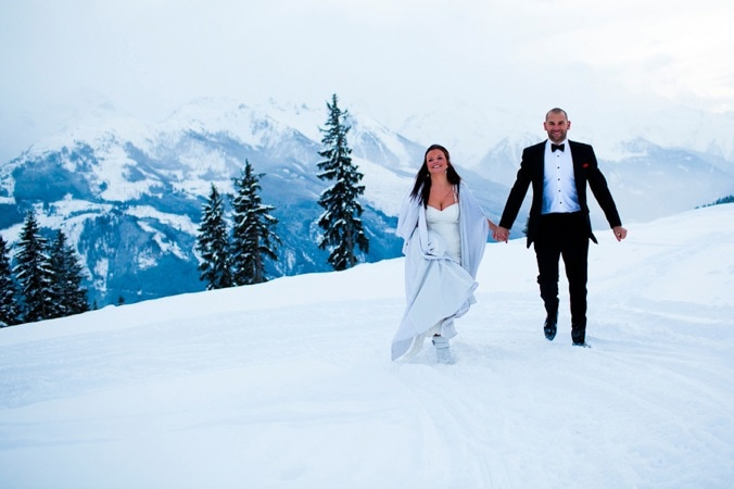 Lucie and Max: winter wedding in Austria // David Pullman Photography