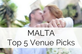 Malta Destination Wedding Guide - Top 5 Venue Picks