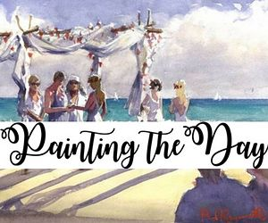 Live Wedding Painter, a unique way to remember your special day Paul Raymonde of Painting the Day member of the Destination Wedding Directory by Weddings Abroad Guide