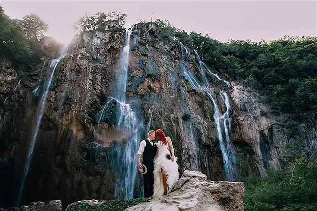 Best Wedding Locations in Croatia 4. Plitvice Lakes // Robert Pljusces Photography
