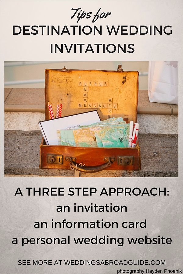 Destination Wedding Invitation Wording - Weddings Abroad Guide